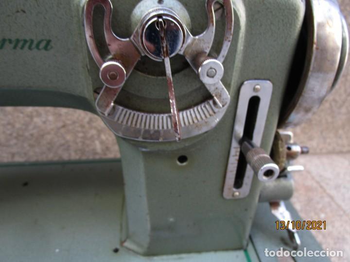 Antigüedades: VIGO - CABEZAL MAQUINA DE COSER REFREY TRANSFORMA REVISADA, EN ESTADO DE USO 12 KILOS 60S +INFO - Foto 6 - 275289503