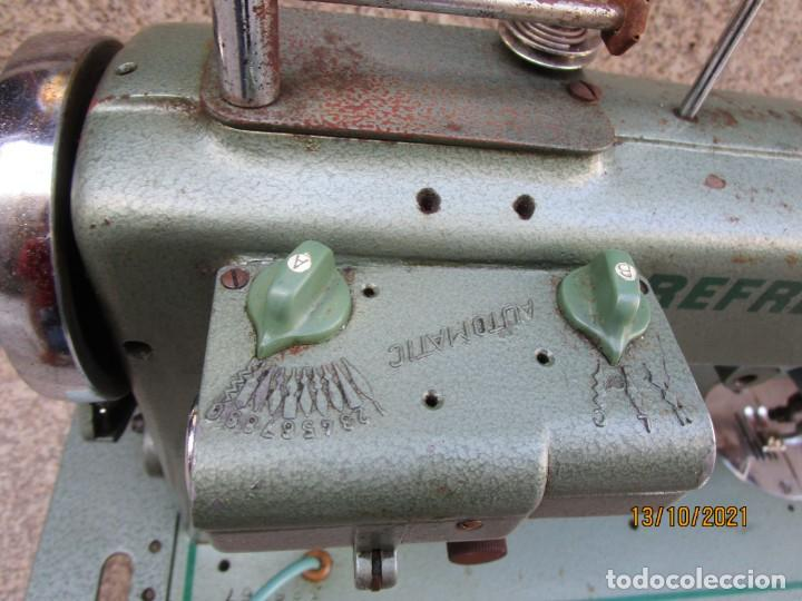Antigüedades: VIGO - CABEZAL MAQUINA DE COSER REFREY TRANSFORMA REVISADA, EN ESTADO DE USO 12 KILOS 60S +INFO - Foto 7 - 275289503