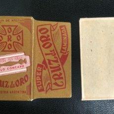 Antigüedades: HOJA DE AFEITAR - CUCHILLA DE AFEITAR - CRUZ DE ORO - NUEVA CON SU HOJA. Lote 275677418