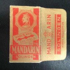 Antigüedades: HOJA DE AFEITAR - CUCHILLA DE AFEITAR - MANDARIN - SOLO LA FUNDA. Lote 275680478