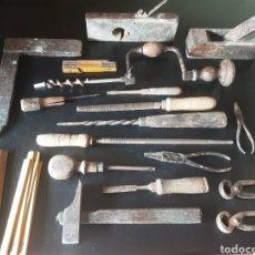 Antigüedades: CONJUNTO ANTIGUAS HERRAMIENTAS. Lote 275683113