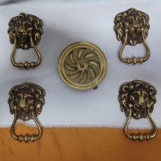 Antigüedades: MIRILLA ANTIGUA Y TIRADORES. Lote 275684308