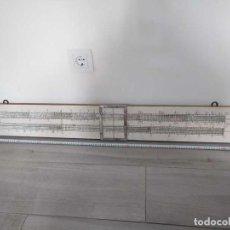 Antigüedades: REGLA DE CALCULO DE FORMACION PARA COLGAR EN PARED - FINES DIDACTICOS - DEMONSTRATION SLIDE RULE. Lote 275722263