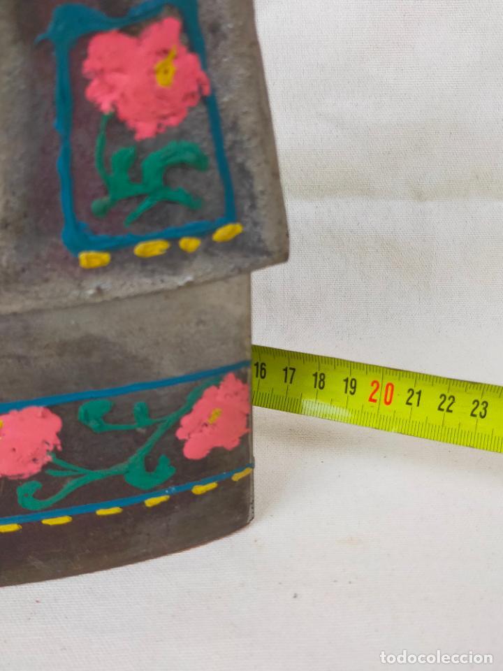 Antigüedades: ANTIGUA PLANCHA DE CARBON CON ESVASTICA NAZI, DE ELORRIO, VIZCAYA - Foto 3 - 275742603