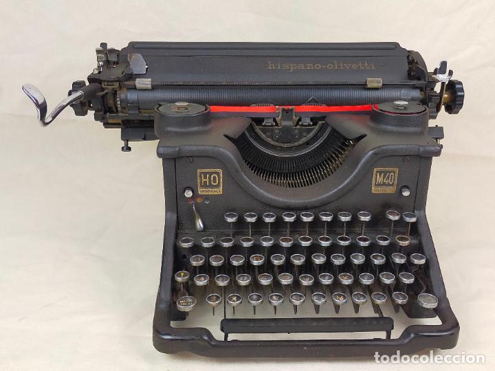 MÁQUINA DE ESCRIBIR HISPANO OLIVETTI HO M40 COMPLETA CON LAS TAPAS LATERALES (Antigüedades - Técnicas - Máquinas de Escribir Antiguas - Olivetti)