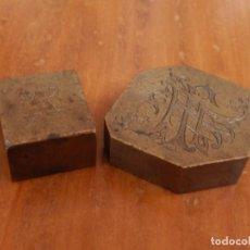 Antigüedades: ANTIGUAS PIEZAS METÁLICAS DE BROCE / LATÓN. DESCONOZCO USO.. Lote 275901253