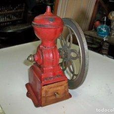Antigüedades: ANTIGUO MOLINILLO DE CAFÉ, PATENTADO ORIGINAL MJF, MADE IN SPAIN. Lote 276085983