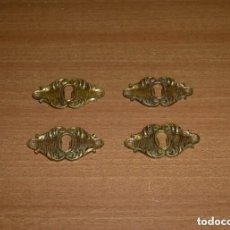 Antigüedades: 4 ANTIGUOS BOCALLAVES DE BRONCE.. Lote 276097793