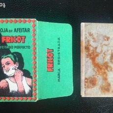 Antigüedades: HOJA DE AFEITAR - CUCHILLA DE AFEITAR - FRICOT - NUEVA CON SU HOJA. Lote 276120758