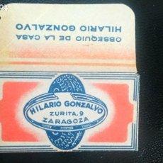 Antigüedades: HOJA DE AFEITAR - CUCHILLA DE AFEITAR - OBSEQUIO HILARIO GONZALVO - SOLO LA FUNDA. Lote 276121138