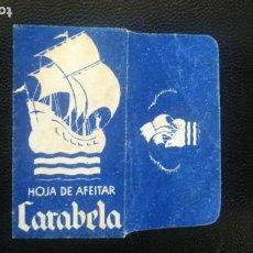 Antigüedades: HOJA DE AFEITAR - CUCHILLA DE AFEITAR - CARABELA - SOLO LA FUNDA. Lote 276126323