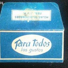 Antigüedades: HOJA DE AFEITAR - CUCHILLA DE AFEITAR - PARA TODOS LOS GUSTOS - SOLO LA FUNDA. Lote 276126848