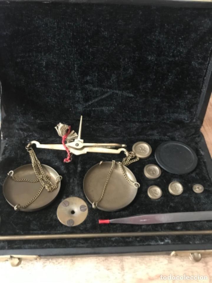 Antigüedades: Balanza portátil completa y en su caja original - Foto 2 - 276271713