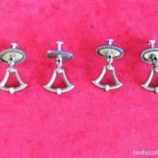 Antigüedades: 4 TIRADORES ART DECÓ PARA RESTAURAR MUEBLE. Lote 276401843