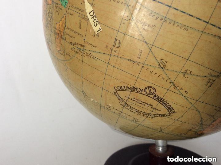 ANTIGUO GLOBO TERRÁQUEO ALEMAN COLUMBUS,DÉCADA AÑOS 30. IDEAL COLECCIONISTAS (Antigüedades - Técnicas - Otros Instrumentos Ópticos Antiguos)