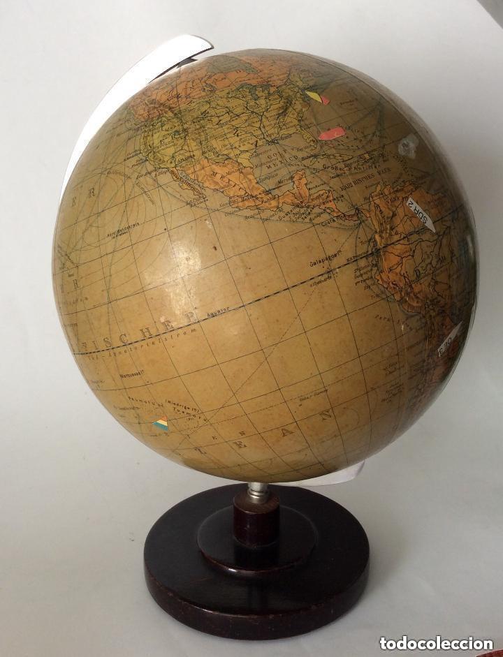 Antigüedades: Antiguo globo terráqueo Aleman Columbus,década años 30. Ideal coleccionistas - Foto 3 - 276402883