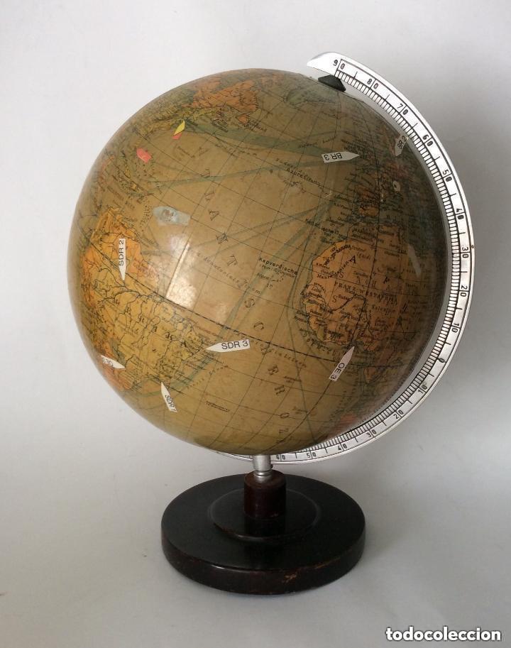 Antigüedades: Antiguo globo terráqueo Aleman Columbus,década años 30. Ideal coleccionistas - Foto 5 - 276402883