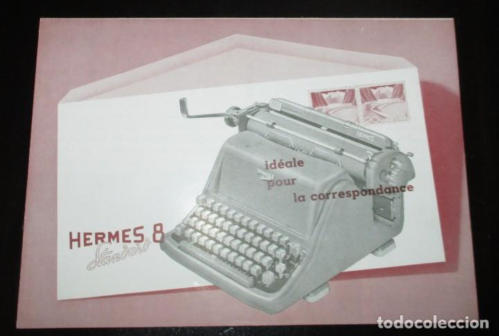 CATÁLOGO DESPLEGABLE DE LA MÁQUINA DE ESCRIBIR HERMES 8 STANDARD. ORIGINAL DE 1959. EN FRANCÉS. (Antigüedades - Técnicas - Máquinas de Escribir Antiguas - Hermes)