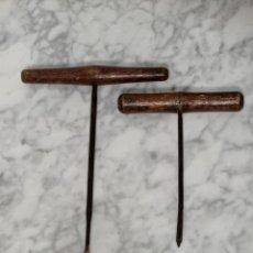 Antigüedades: ANTIGUAS Y GRANDES BARRENAS. Lote 276583483