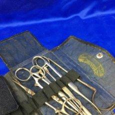 Antigüedades: ESTUCHE QUIRÚRGICO CON INSTRUMENTAL MEDICO, FORENSE, CIRUJANO MILITAR,. Lote 276658608