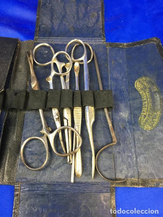 Antigüedades: ESTUCHE QUIRÚRGICO CON INSTRUMENTAL MEDICO, FORENSE, CIRUJANO MILITAR, - Foto 10 - 276658608