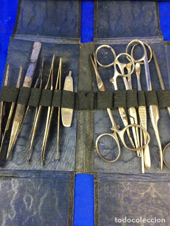 Antigüedades: ESTUCHE QUIRÚRGICO CON INSTRUMENTAL MEDICO, FORENSE, CIRUJANO MILITAR, - Foto 12 - 276658608