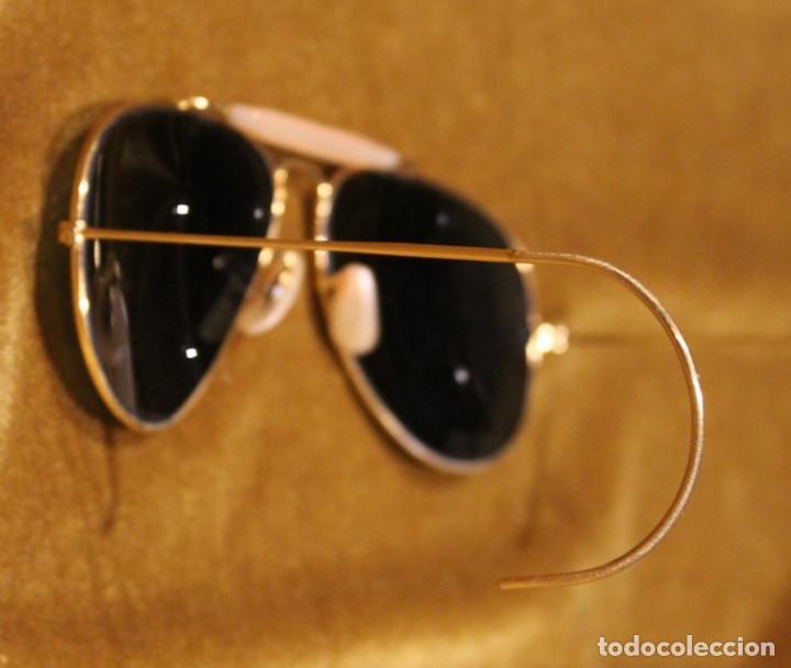 Antigüedades: Antiguas gafas Rayban,modelo aviador en funda original de piel de cerdo. - Foto 2 - 276696233