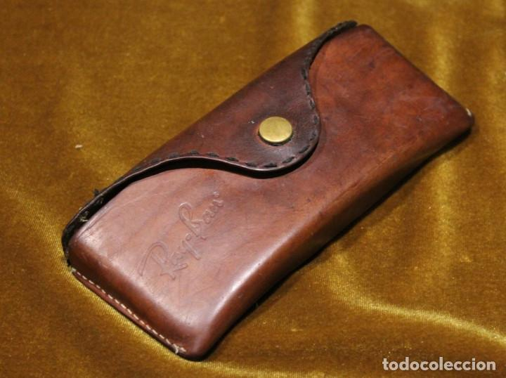 Antigüedades: Antiguas gafas Rayban,modelo aviador en funda original de piel de cerdo. - Foto 3 - 276696233