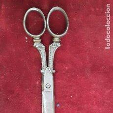 Antigüedades: TIJERAS DE NOTARIO O DE TRABAJO SIGLO XIX EN FORJA. Lote 276784768