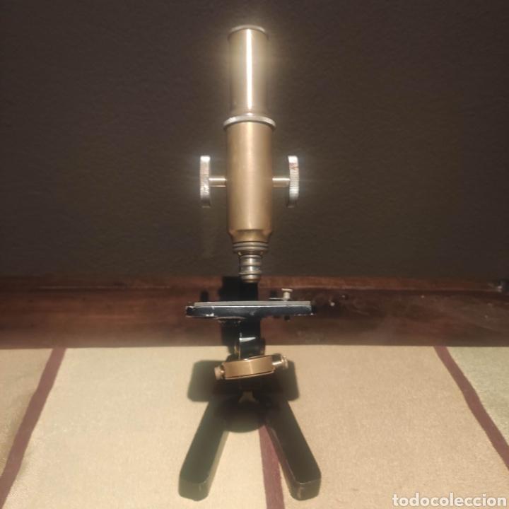 Antigüedades: MICROSCOPIO ALEMAN SIMPLE - Foto 2 - 276948243