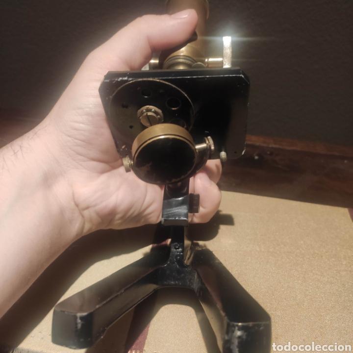 Antigüedades: MICROSCOPIO ALEMAN SIMPLE - Foto 3 - 276948243