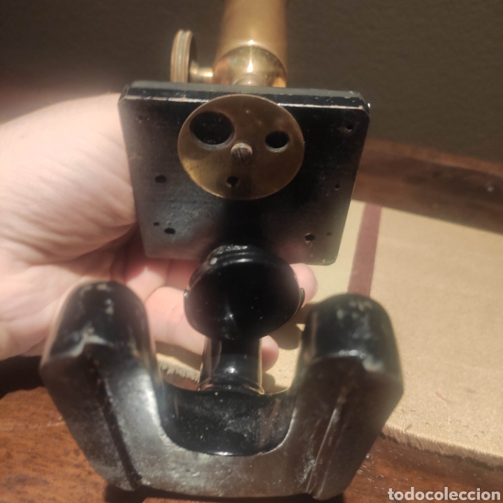 Antigüedades: MICROSCOPIO ALEMAN SIMPLE HERRADURA - Foto 3 - 276949808