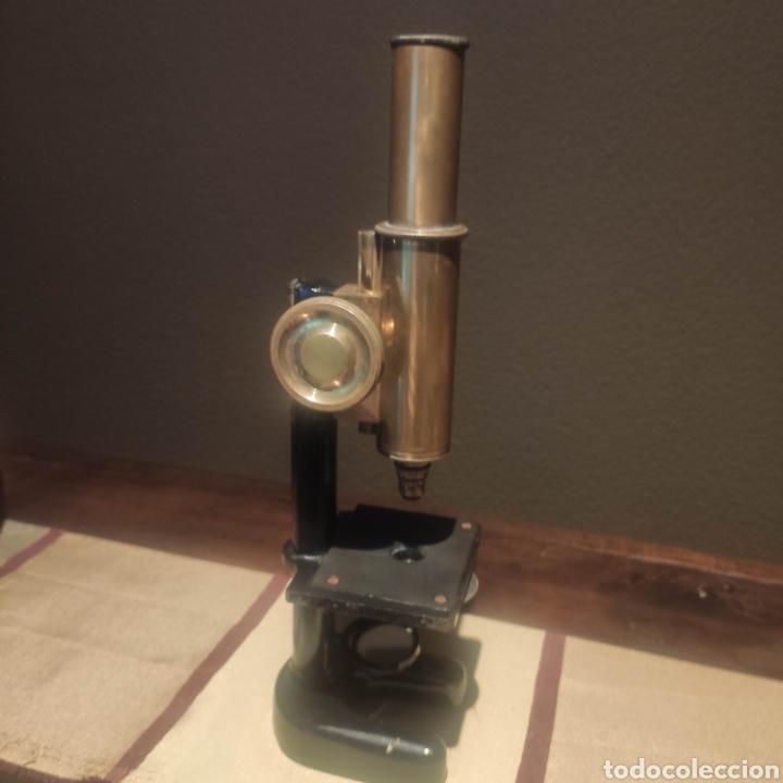 MICROSCOPIO ALEMAN SIMPLE HERRADURA (Antigüedades - Técnicas - Instrumentos Ópticos - Microscopios Antiguos)