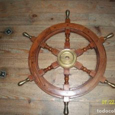 Antigüedades: TIMON DE BARCO- DIAMETRO 62 CM. Lote 276963753