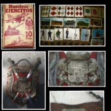 Antigüedades: COLECCIÓN CROMOS NUESTROS EJERCITOS Y REGALO ANTIGUA PANOPLIA DE TOLEDO ACEPTO OFERTAS. Lote 276968298