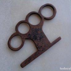 Antigüedades: HIERRO DESCONOCIDO EN FORJA. ESCULTURA, BASTONERO...?. Lote 276989628