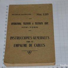 Teléfonos: INTERNACIONAL TELEPHONE & TELEGRAPH CORP. / IMPRESIONANTE CATÁLOGO NEW-YORK 1928 / EN ESPAÑOL ¡MIRA!. Lote 277021458