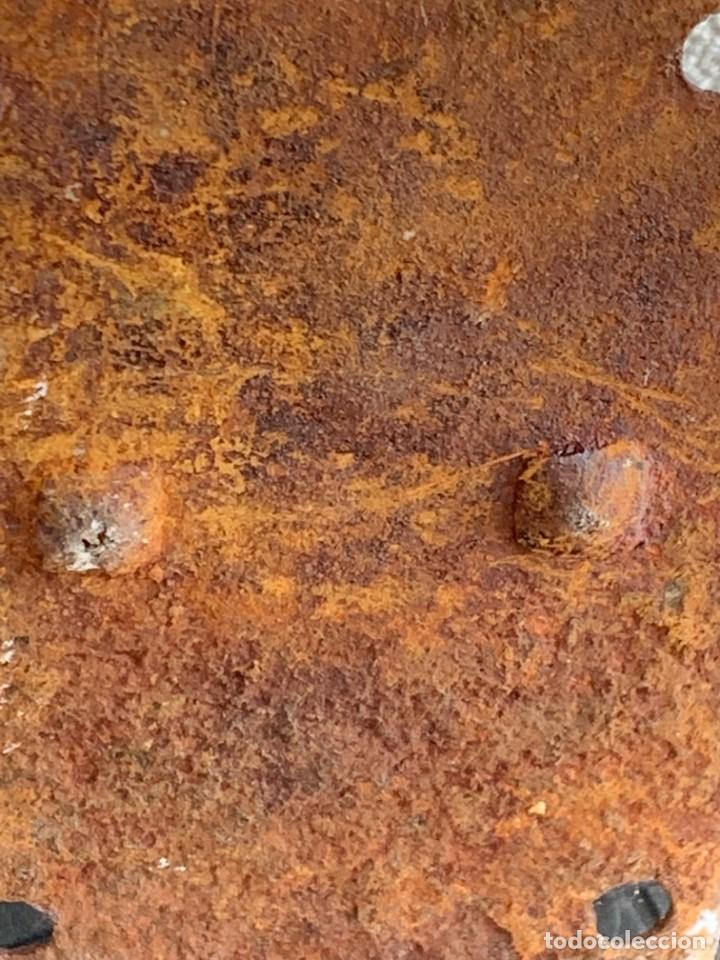 Antigüedades: GRAN PESTILLO PUERTA DOS HOJAS TRABA FORJA 60X9X6CMS S XVIII - Foto 3 - 277041443