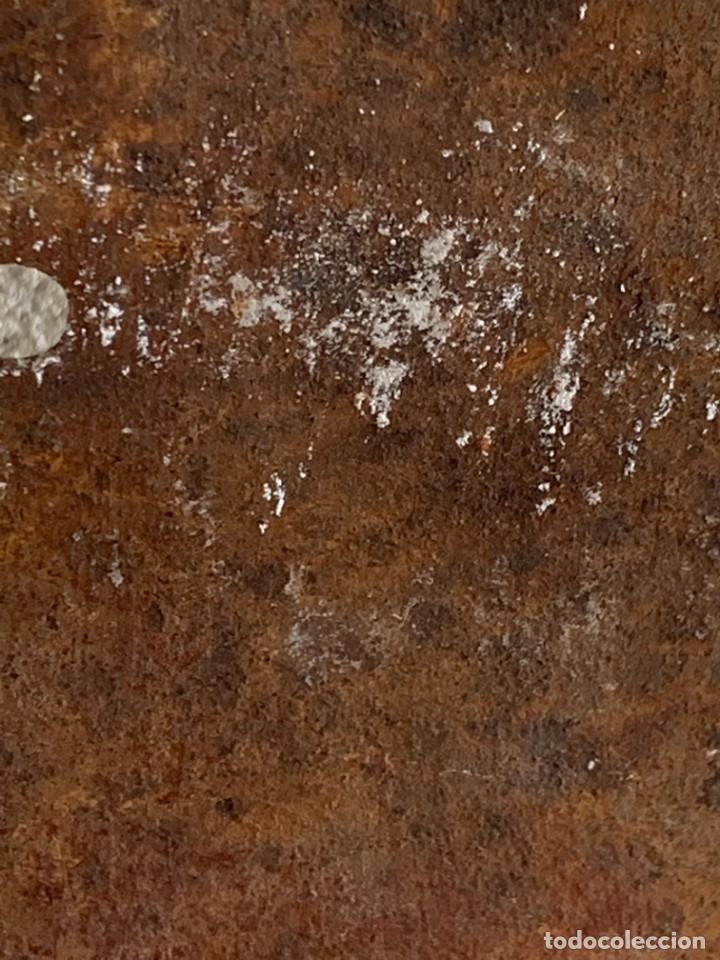 Antigüedades: GRAN PESTILLO PUERTA DOS HOJAS TRABA FORJA 60X9X6CMS S XVIII - Foto 4 - 277041443
