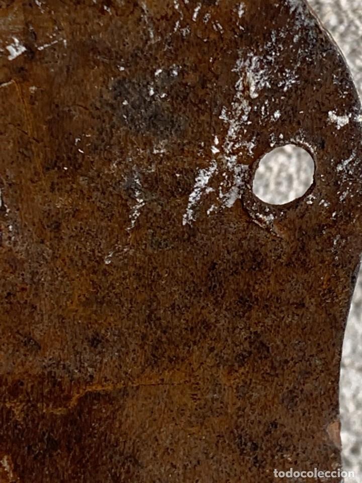 Antigüedades: GRAN PESTILLO PUERTA DOS HOJAS TRABA FORJA 60X9X6CMS S XVIII - Foto 5 - 277041443