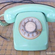 Teléfonos: ANTIGUO TELÉFONO HERALDO COLOR VERDE, NÚMEROS DORADOS. CITESA MALAGA. ADAPTADO Y FUNCIONANDO. Lote 277098183