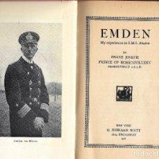 Antigüedades: EMDEM INGLES 1928 LAS AVENTURAS DE ESTE FAMOSO BUQUE CORSARIO. Lote 277237958