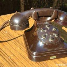 Teléfonos: ANTIGUO TELÉFONO INTERFONO BAQUELITA MARRÓN, 5726-AVII, DE STANDARD ELÉCTRICA, PARA LA CTNE. Lote 277427528