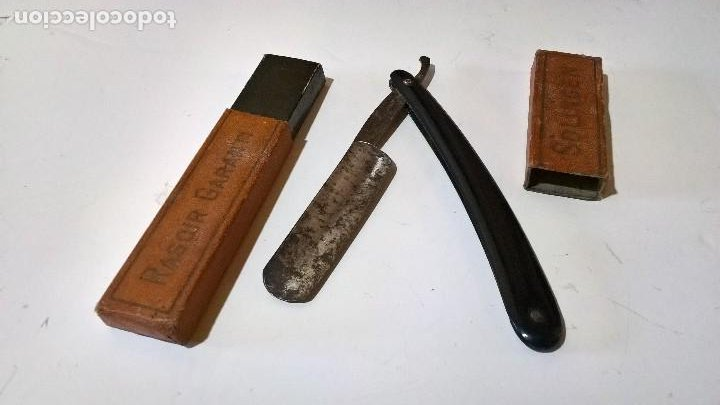MADE IN GERMANY. NAVAJA DE AFEITAR. SOLINGEN (Antigüedades - Técnicas - Barbería - Navajas Antiguas)