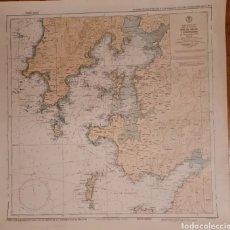 Antigüedades: CARTA NAUTICA OMEGA DE LA RIA DE AROSA Y PONTEVEDRA PARA ALUMNOS DE LA ESCUELA NAVAL MILITAR. Lote 277512663
