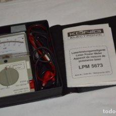 Antigüedades: LPM 5673 MEDIDOR LÁSER / JAPAN - INSTRUMENTO COMPROBACIÓN/REPARACIÓN COMPACT DISC Y OTROS ¡MIRA!. Lote 277579868
