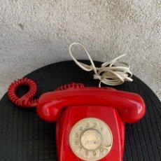 Teléfonos: TELEFONO HERALDO CITESA ROJO COMPAÑIA TELEFONICA ESPAÑA MALAGA ECUALIZADO AÑOS 70 12X22X10CMS. Lote 277607078