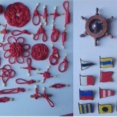 Antigüedades: COLECCION DE NUDOS MARINEROS CON APAREJOS PARA CUADRO DE NUDOS. Lote 277662668