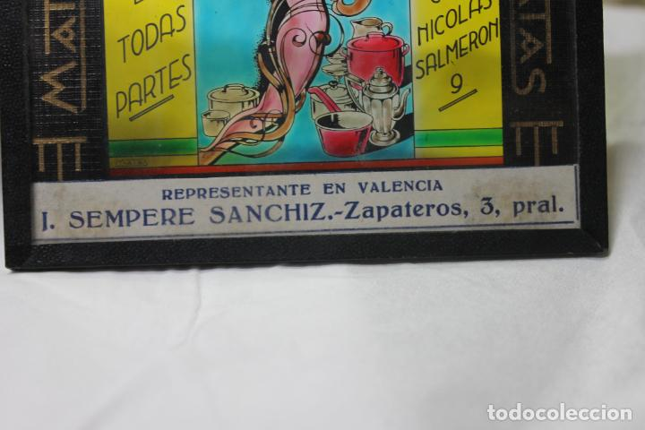 Antigüedades: DIAPOSITIVA DE CRISTAL CUPON COMERCIAL, CLICHES MATAS, SEMPERE SANCHIZ, VALENCIA - Foto 3 - 277683328