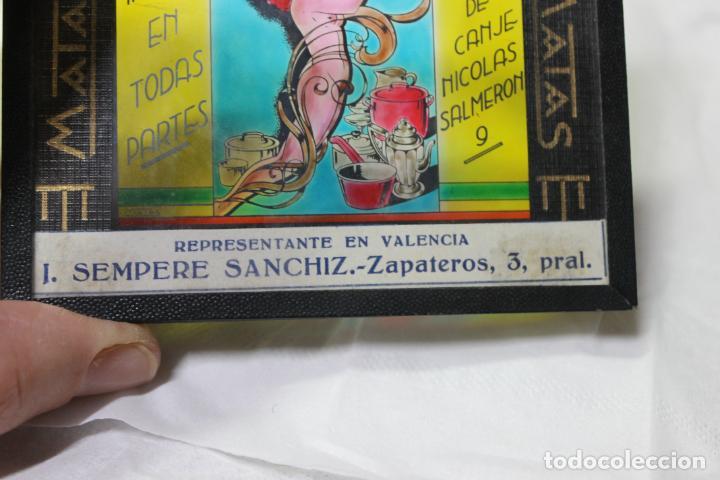 Antigüedades: DIAPOSITIVA DE CRISTAL CUPON COMERCIAL, CLICHES MATAS, SEMPERE SANCHIZ, VALENCIA - Foto 4 - 277683328